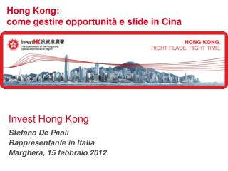 Hong Kong:  come gestire opportunità e sfide in Cina