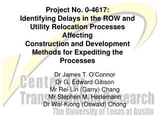 Dr James T. O'Connor Dr G. Edward Gibson Mr Rei-Lin (Garry) Chang Mr Stephen M. Hedemann Dr Wai-Kiong (Oswald) Chong