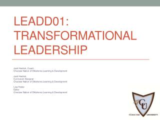 LEADD01:  Transformational Leadership
