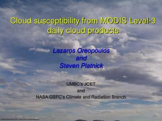 Cloud susceptibility from MODIS Level-3 daily cloud products