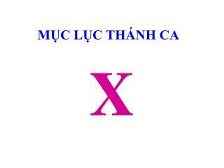 M?C L?C TH�NH CA
