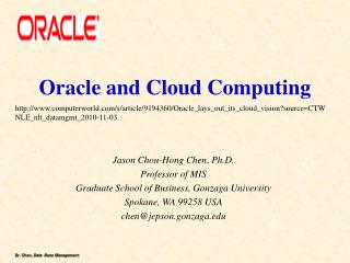 Oracle and Cloud Computing