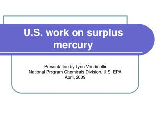 U.S. work on surplus mercury