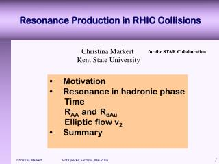 Resonance Production in RHIC Collisions