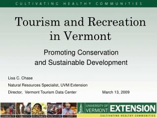 Tourism and Recreation in Vermont