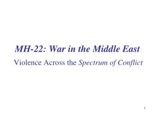 MH-22: War in the Middle East