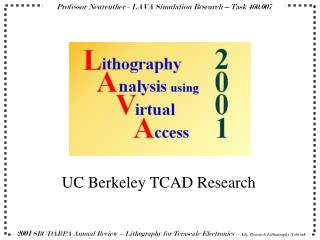 UC Berkeley TCAD Research