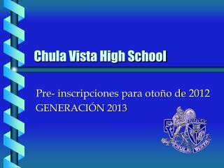 Chula Vista High School