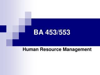 BA 453/553
