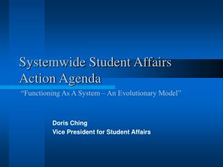 Systemwide Student Affairs Action Agenda