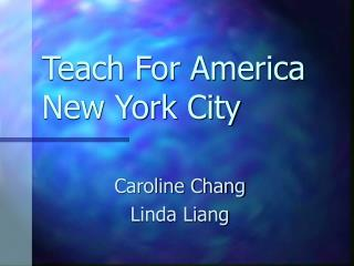 Teach For America New York City