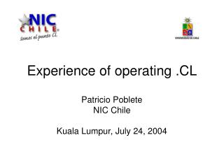 Experience of operating .CL