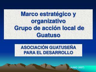 Marco estrat�gico y organizativo  Grupo de acci�n local de Guatuso