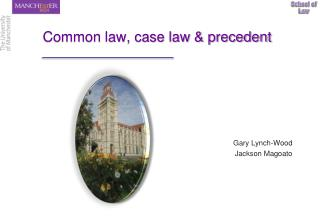 Common law, case law & precedent