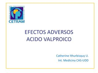 EFECTOS ADVERSOS  ACIDO VALPROICO