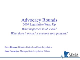 Advocacy Rounds