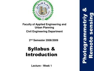 Syllabus & Introduction