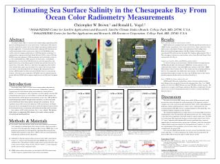 Estimating Sea Surface Salinity in the Chesapeake Bay From Ocean Color Radiometry Measurements