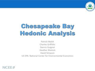 Chesapeake Bay  Hedonic Analysis