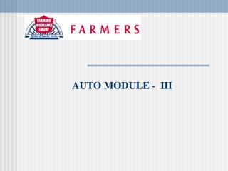 AUTO MODULE -  III
