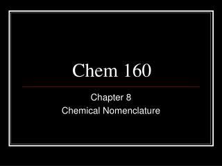 Chem 160