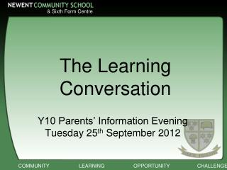 The Learning Conversation