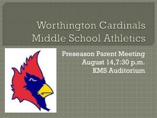 Worthington Cardinals Middle School Athletics