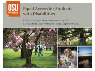 Equal Access for Students  with Disabilities