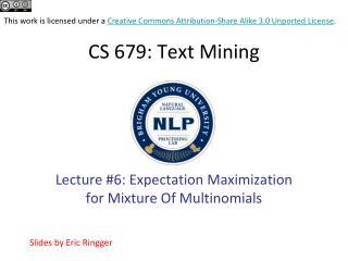 CS 679 : Text Mining