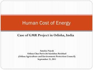 Human Cost of Energy