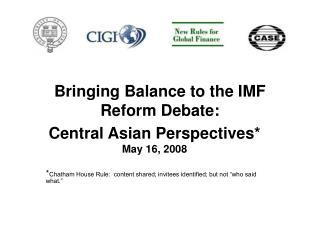 Bringing Balance to the IMF Reform Debate: