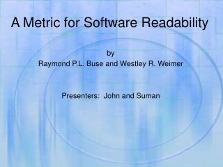 A Metric for Software Readability