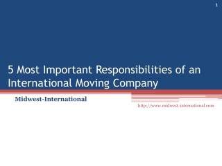 5 Most Important Responsibilities of an International Moving