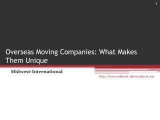 Overseas Moving Companies: What Makes Them Unique