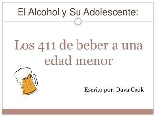 Los 411 de beber a una edad menor