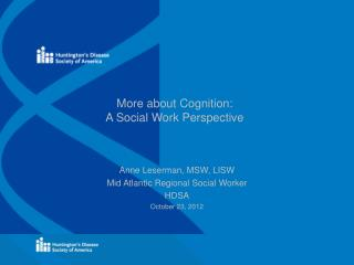 More about Cognition: A Social Work Perspective