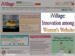 iVillage: Innovation among  Women's Website