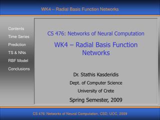 WK4 – Radial Basis Function Networks