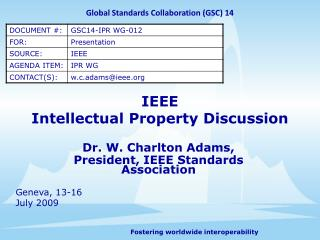 IEEE Intellectual Property Discussion