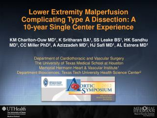 Lower Extremity Malperfusion Complicating Type A Dissection: A 10-year Single Center Experience