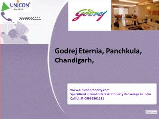 Godrej Eternia Chandigarh - Call @ 09999561111