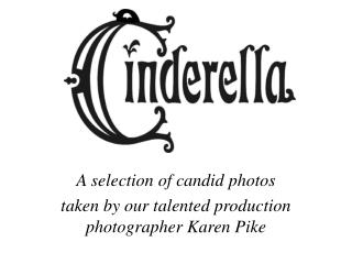 A selection of candid photos taken by our talented production photographer Karen Pike