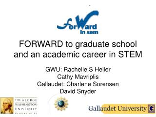 FORWARD to graduate school and an academic career in STEM