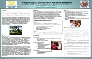 A Program Targeting Metabolic Risks in Patients with Mental Illness
