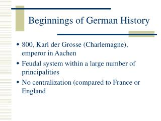 Beginnings of German History