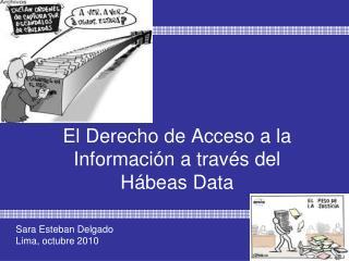 El Derecho de Acceso a la Información a través del  Hábeas Data