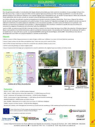 Partenaires CRA-W «U1D1 - U3D1 - U1D4», B-5030 Gembloux (Belgique) INRA – Nancy «UMR-Interactions Arbres Microorgani