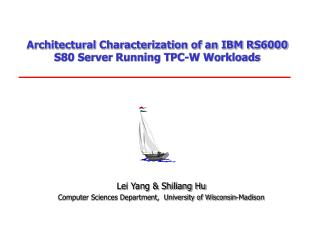 Architectural Characterization of an IBM RS6000 S80 Server Running TPC-W Workloads