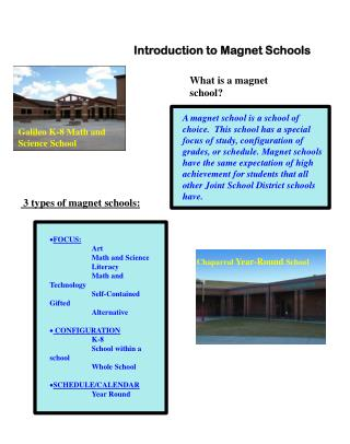 Introduction to Magnet Schools