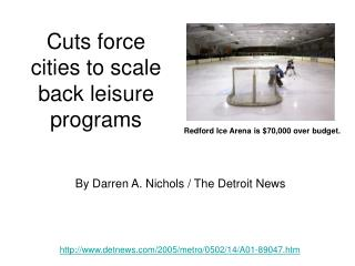 Cuts force cities to scale back leisure programs